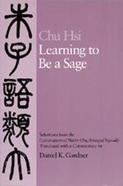 Cover of: Learning to Be A Sage by Hsi Chu