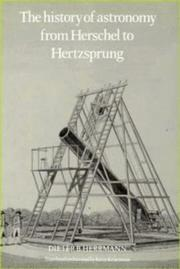 Cover of: The history of astronomy from Herschel to Hertzsprung by Dieter B. Herrmann