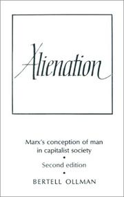 Cover of: Alienation by Bertell Ollman