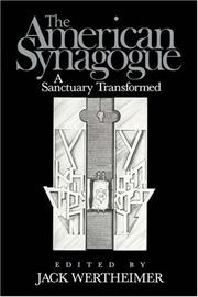 Cover of: The American Synagogue by Jack Wertheimer