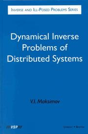 Cover of: Dynamical inverse problems of distributed systems by V. I. Maksimov