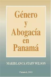Cover of: Genero y Abogacia en Panama by Mariblanca Staff Wilson