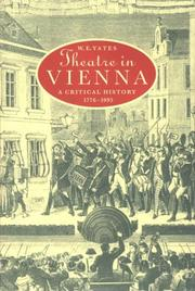 Cover of: Theatre in Vienna by W. E. Yates