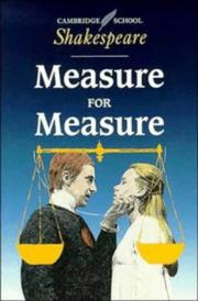 Cover of: Measure for measure by William Shakespeare