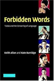 Cover of: Forbidden Words by Keith Allan
