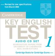 Cover of: Cambridge Key English Test 1 Audio CD Set by Cambridge ESOL