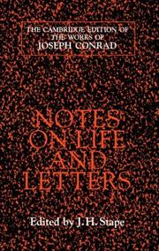 Cover of: Notes on life and letters by Joseph Conrad