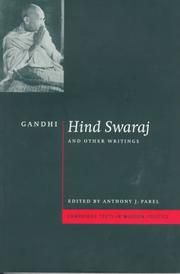 Cover of: Hind swaraj and other writings by Mohandas Karamchand Gandhi