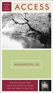 Cover of: Access Washington, D.C. 9e (Access Guides) by Richard Saul Wurman