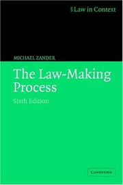 Cover of: The law-making process by Michael Zander