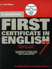 Cover of: Cambridge First Certificate in English 7 Self Study Pack (FCE Practice Tests) by Cambridge ESOL
