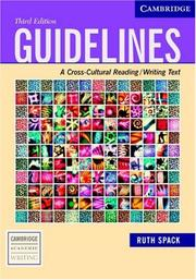 Cover of: Guidelines by Ruth Spack