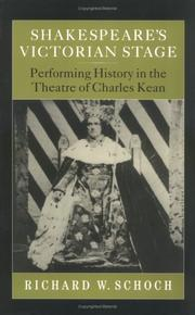 Cover of: Shakespeare's Victorian Stage by Richard W. Schoch