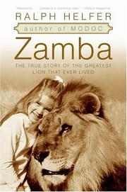 Cover of: Zamba by Ralph Helfer