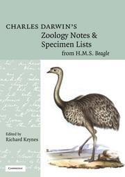 Cover of: Charles Darwin's zoology notes & specimen lists from H.M.S. Beagle by Charles Darwin