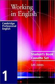 Cover of: Working in English Audio Cassette Set (Working in English) by Leo Jones