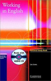 Cover of: Working in English Personal Study Book with Audio CD (Working in English) by Leo Jones