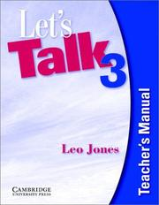 Cover of: Let's Talk 3 Teacher's Manual (Let's Talk) by Leo Jones