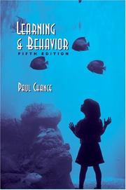 Cover of: Learning and behavior by Paul Chance