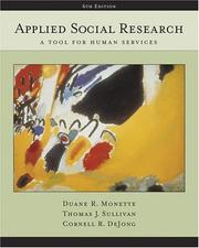 Cover of: Applied social research by Duane R. Monette