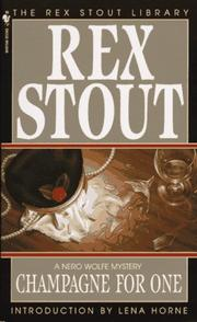Cover of: Champagne for one by Rex Stout