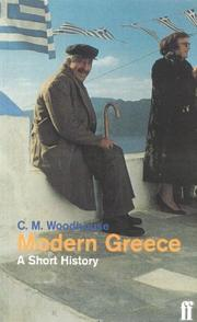 Cover of: Modern Greece by C. M. Woodhouse
