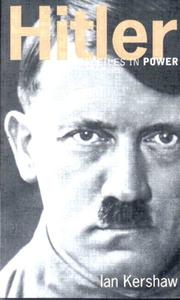 Cover of: Hitler by Kershaw, Ian., Ian Kershaw