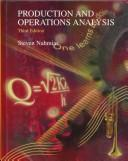 Cover of: Production and operations analysis by Steven Nahmias