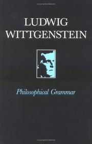 Cover of: Philosophische Grammatik by Ludwig Wittgenstein