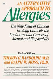 Cover of: Alternative Approach to Allergies, An by Theron G. Randolph
