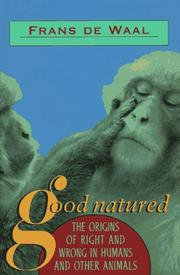 Cover of: Good natured by Frans de Waal