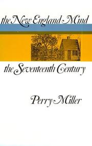 Cover of: The New England mind by Perry Miller