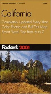 Cover of: Fodor&#39;s California 2001 by Mark Sullivan