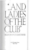 Cover of: And Ladies of the Club by Helen Hooven Santmyer