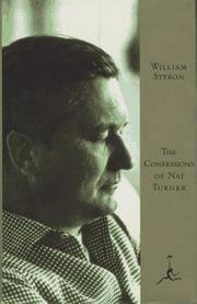 Cover of: The Confessions of Nat Turner by William Styron