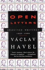 Cover of: Open letters by Vaclav Havel, Vclav Havel