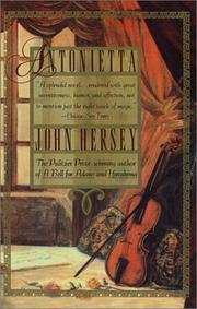 Cover of: Antonietta by John Hersey