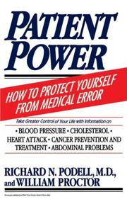 Cover of: Patient power by Richard N. Podell