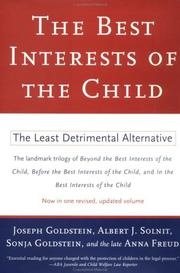 Cover of: Best Interests of the Child by Anna Freud