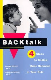 Cover of: Backtalk by Audrey Ricker