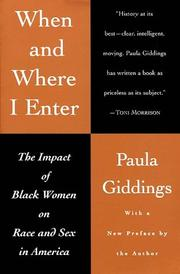 Cover of: When and where I enter by Paula Giddings