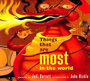 Cover of: Things That Are Most in the World by Judi Barrett