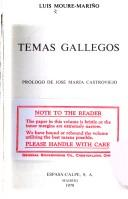 Cover of: Temas gallegos by Luis Moure-Mariño