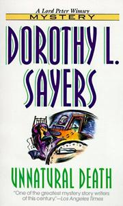 Cover of: Unnatural death by Dorothy L. Sayers