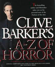Cover of: Clive Barker's A-Z Horror by Stephen Jones