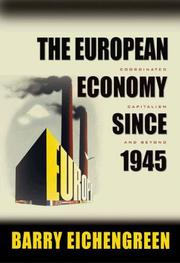 Cover of: The European Economy since 1945 by Barry Eichengreen