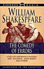 Cover of: Comedy of errors by William Shakespeare