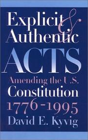 Cover of: Explicit and Authentic Acts by David E. Kyvig