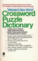 Cover of: Webster's New World crossword puzzle dictionary by Jane Shaw Whitfield