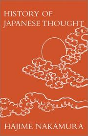 Cover of: A History of the Development of Japanese Thought by Hajime Nakamura